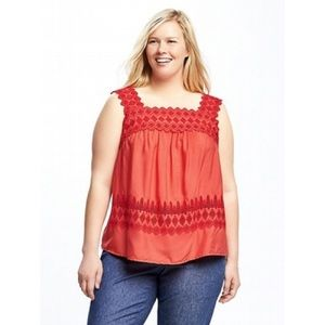 ⭐️2 for $20⭐️ Old Navy red embroidered camisole